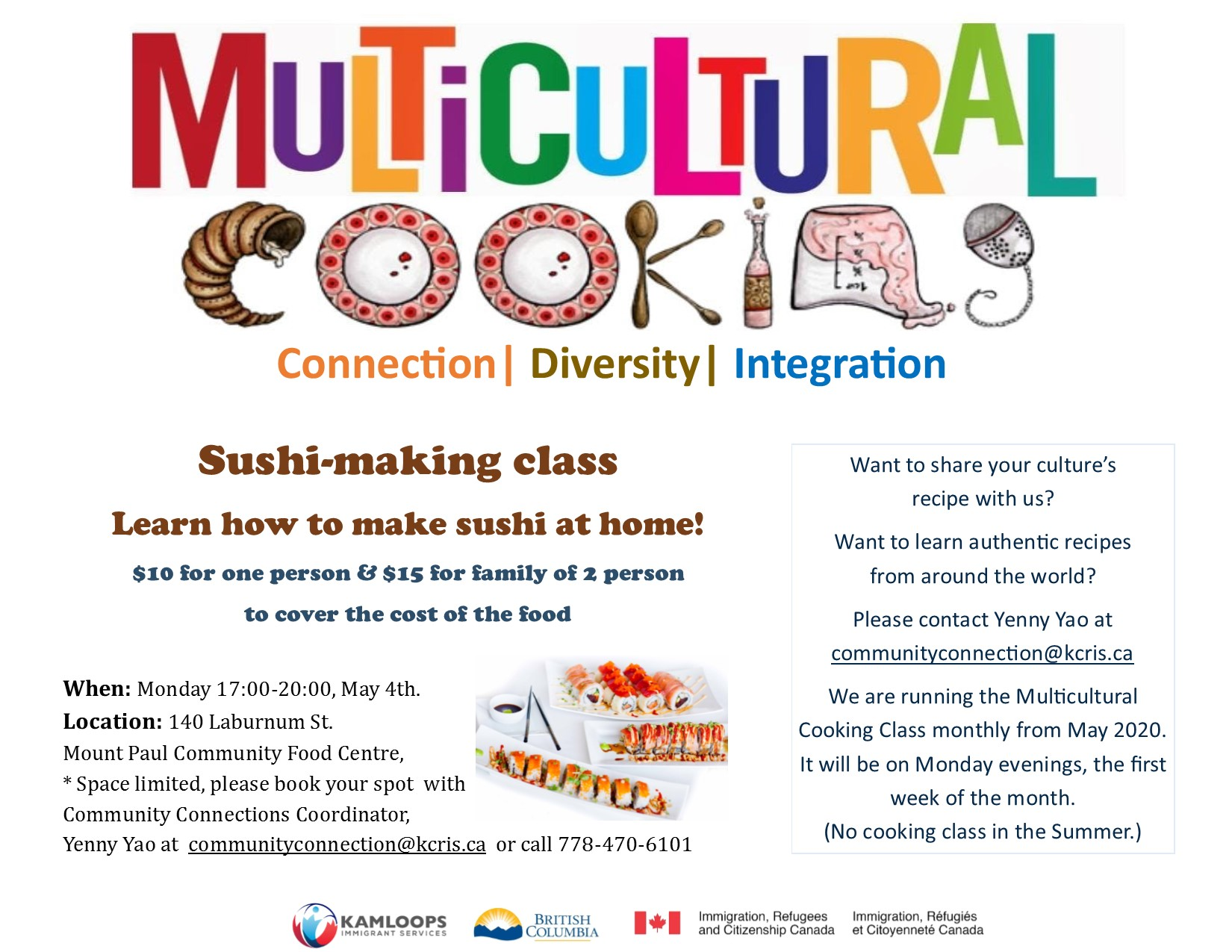 Multicultural cooking class