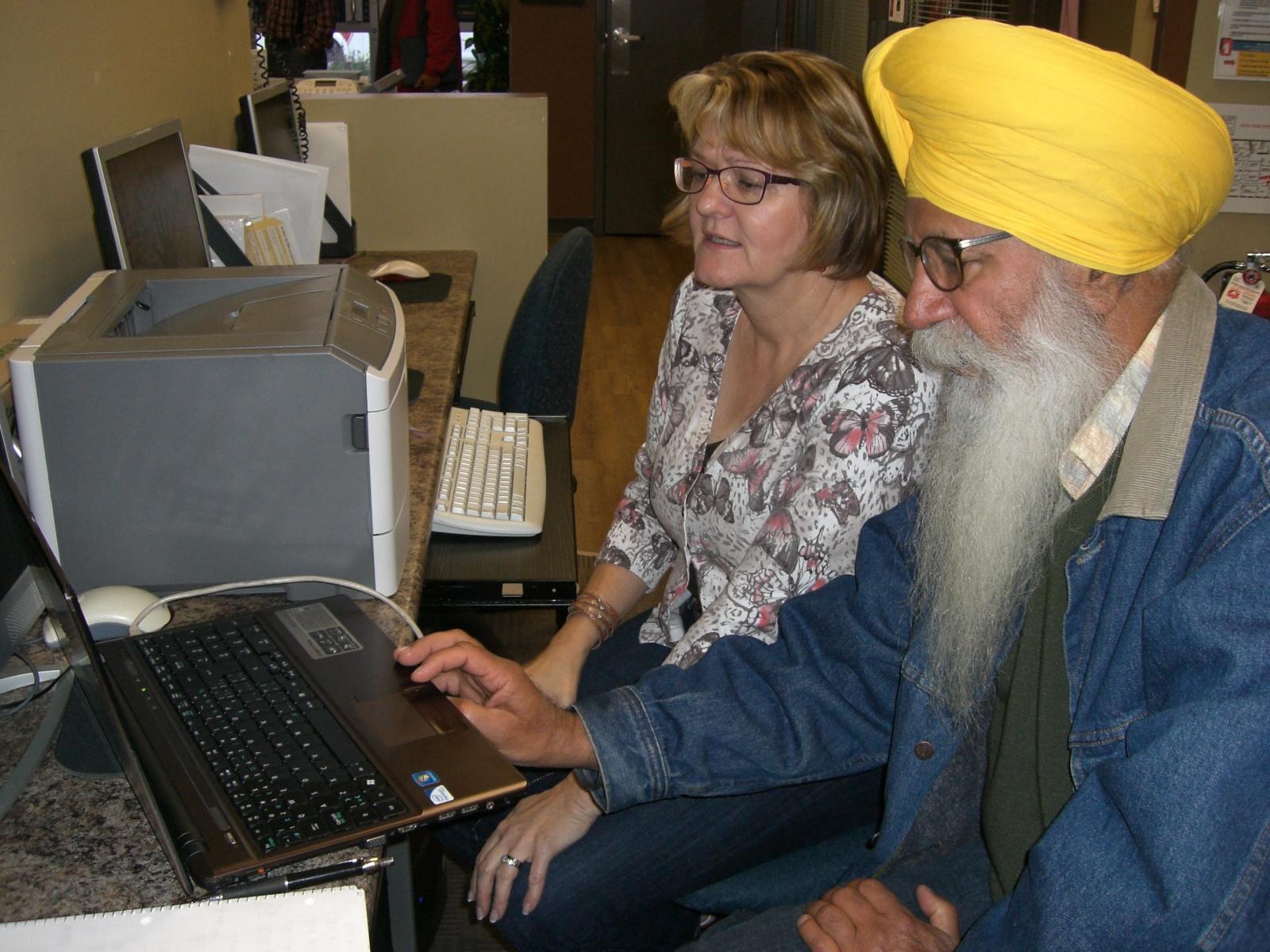 Mentoring computer skills